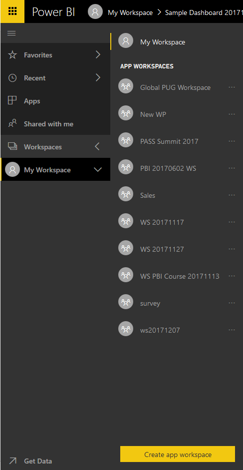 If You Want To Share Content With Others Your Starting Point Can Be Creating Another Folder Which In Power Bi Terminology We Call It Workspace