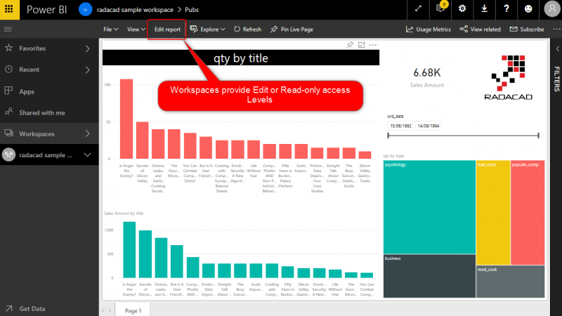 Workspaces in Power BI; Collaborative DEV Environments