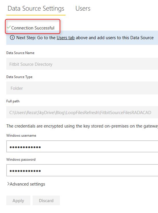 loop through onpremises files with power bi and schedule