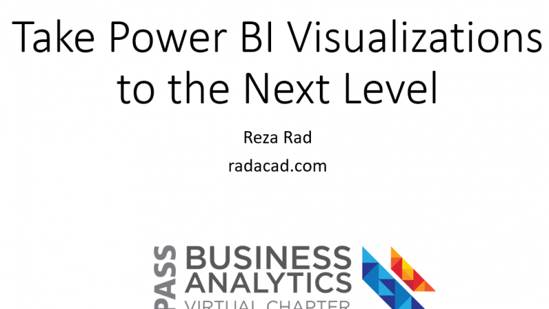 Materials and Q&A of PASS BA VC Session: Take Power BI Visualization to the Next Level