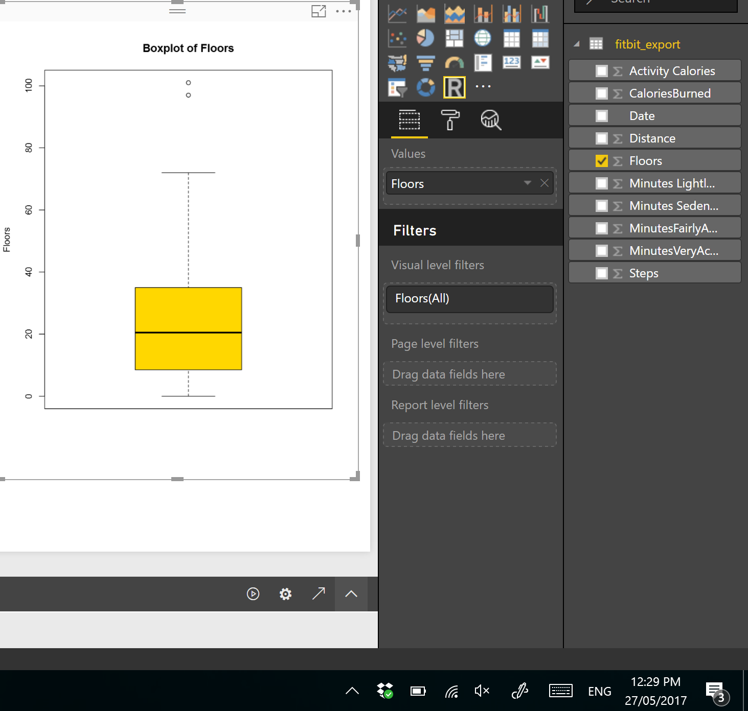 Visualizing numeric variables in Power BI – boxplots -Part 1 | RADACAD
