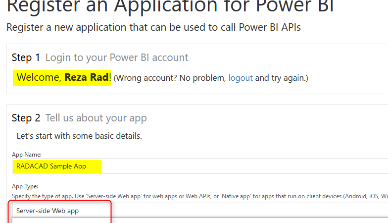 Integrate Power BI into Your Application: Part 1 – Register your App
