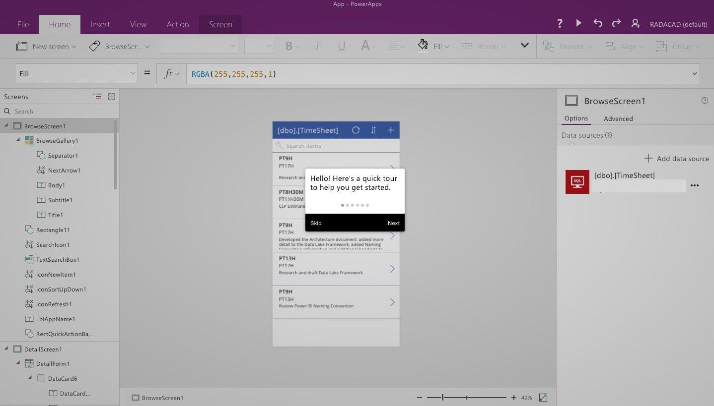 PowerApps – Building Timesheet App without Coding – Part 1 | RADACAD