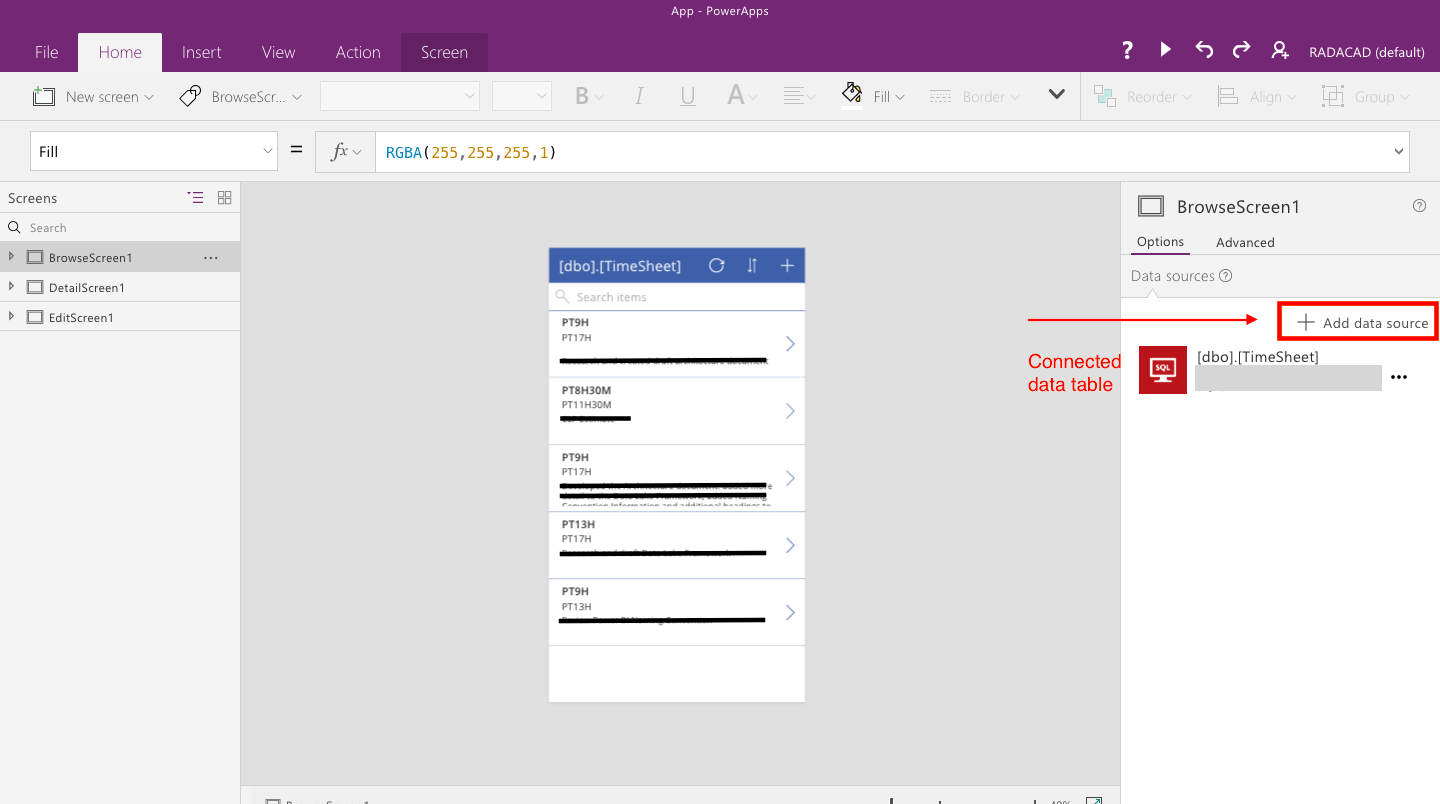 powerapps building timesheet app without coding part 3