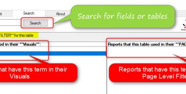 Searching a Field or Table in Power BI Visualization: Power BI Helper