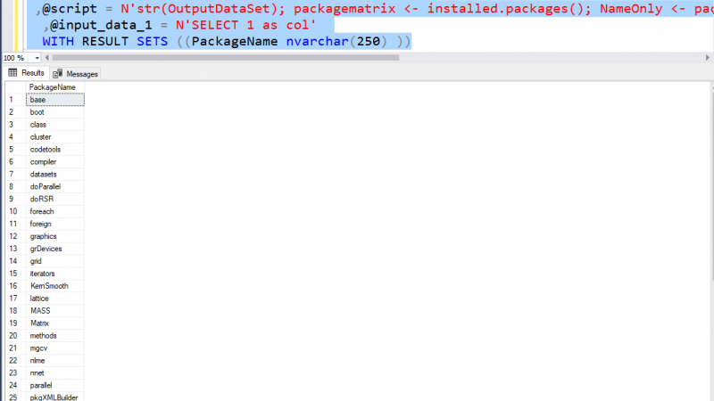 R in SQL Server – write R Scripts- Part 1