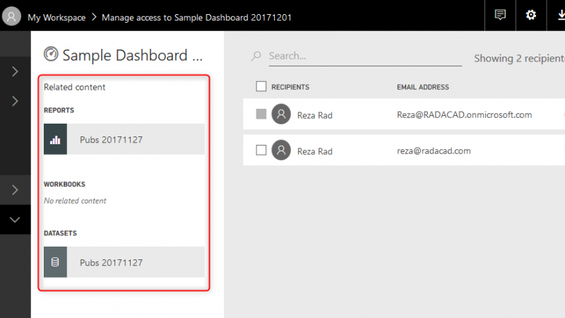 Dashboard Sharing, and Manage Permissions in Power BI; Simple, but Useful?