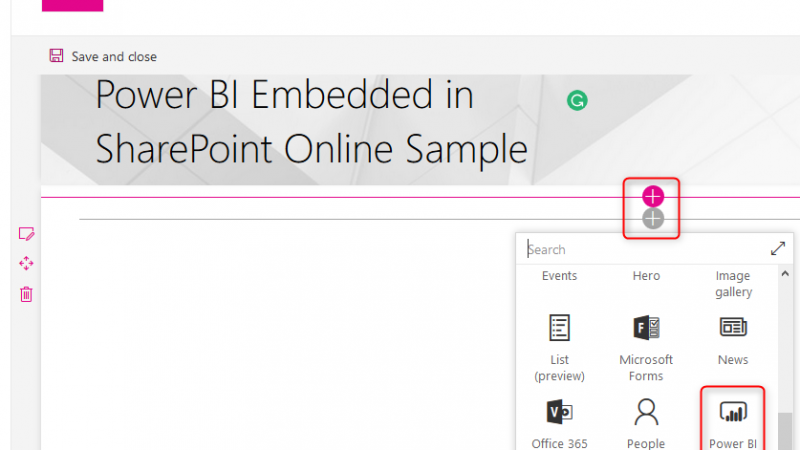 Embed Power BI in SharePoint Online; Office 365 Integrated Sharing