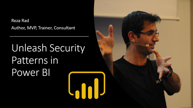 Unleash Security Patterns in Power BI; Webinar Recording and Materials