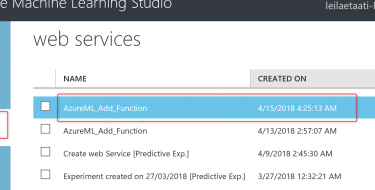 Azure ML Package-Publish a Web service from R-Part2