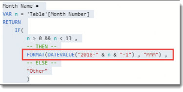 DAX : Convert Number into Month Name