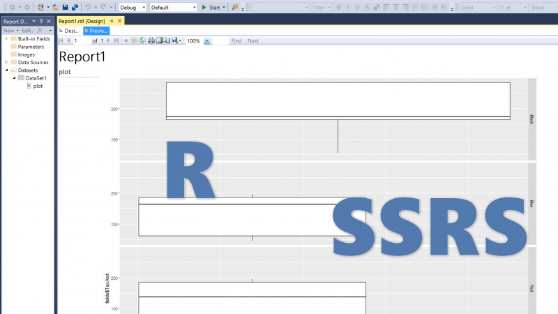 R Chart into SSRS (ggplot2 package in SQL Server 2017)-Part 2