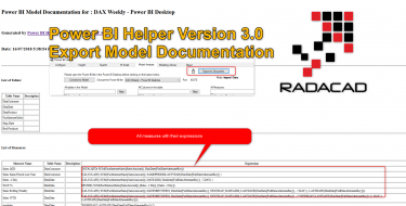 Power BI Helper Version 3.0 Export Model Documentation
