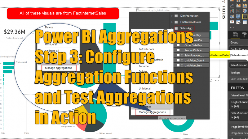 Power BI Aggregations Step 3: Configure Aggregation Functions and Test Aggregations in Action