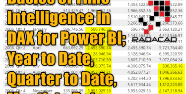 Basics of Time Intelligence in DAX for Power BI; Year to Date, Quarter to Date, Month to Date