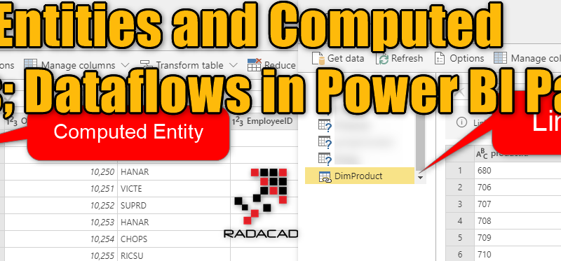 Linked Entities and Computed Entities; Dataflows in Power BI Part 4