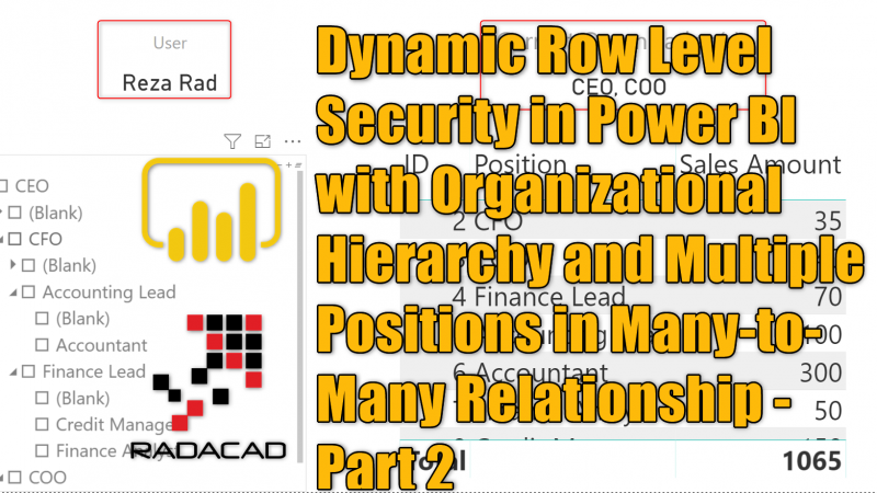 Dynamic Row Level Security in Power BI with Organizational Hierarchy and Multiple Positions in Many-to-Many Relationship – Part 2