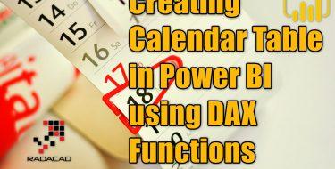 Creating Calendar Table in Power BI using DAX Functions