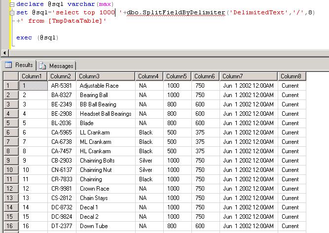 T-SQL Split Function : Split Field By a Delimiter | RADACAD