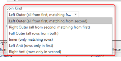 How to Change Joining Types in Power BI and Power Query