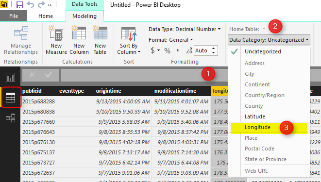 How to Do Power BI Mapping With Latitude and Longitude Only | RADACAD