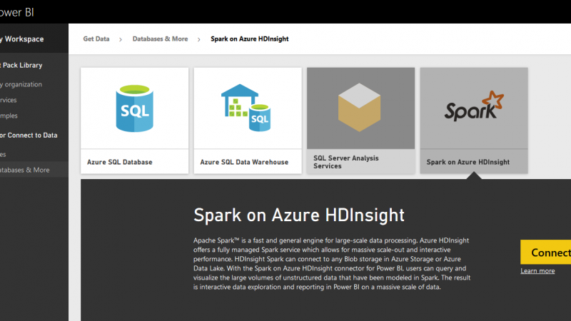 Power BI and Spark on Azure HDInsight; Step by Step Guide