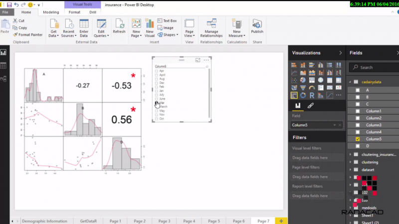 Interactive R Charts in Power BI