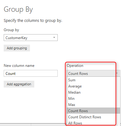 Grouping in Power Query