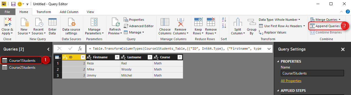 Append vs  Merge in Power BI and Power Query | RADACAD