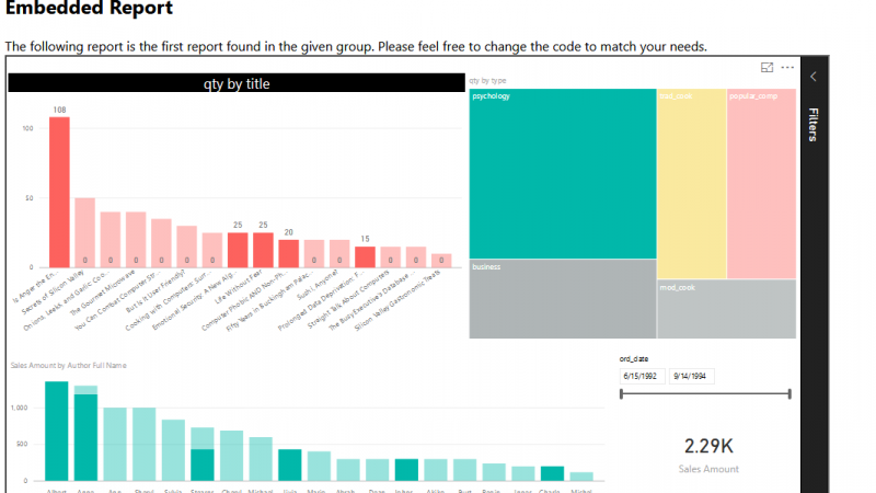Integrate Power BI into Your Application: Part 3 – Embed Content