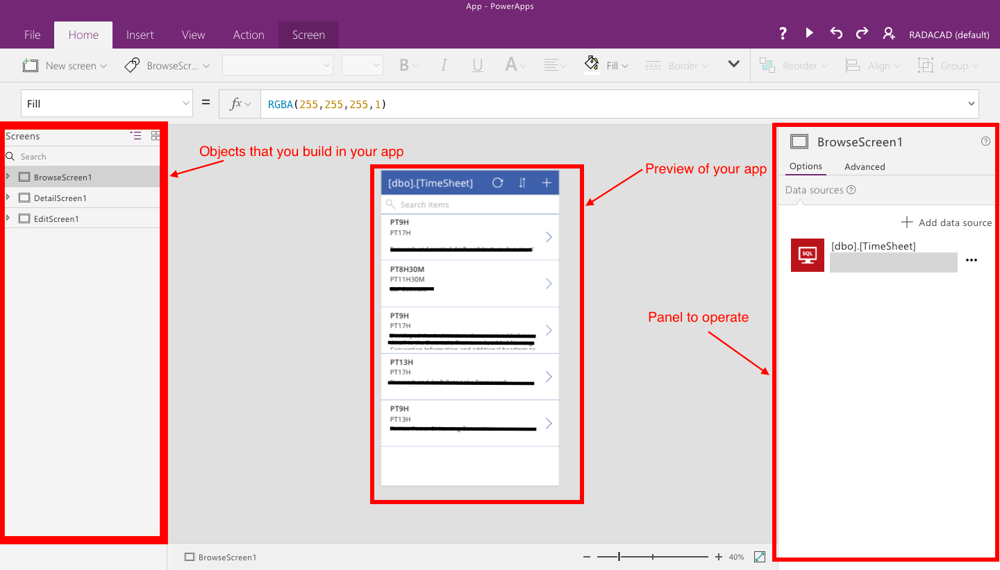 PowerApps – Building Timesheet App without Coding – Part 2