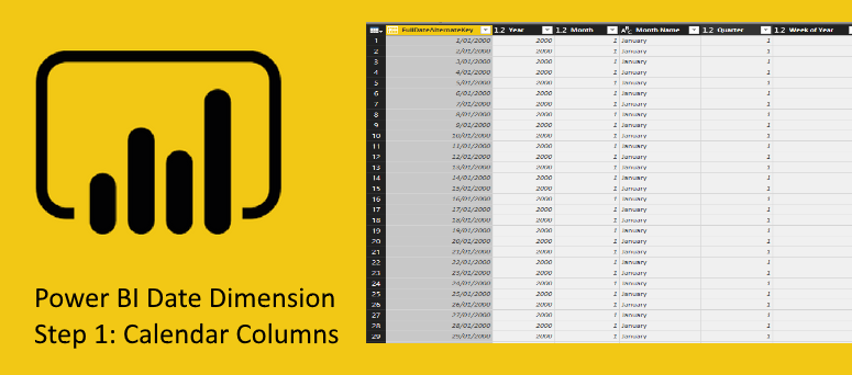 Create a Date Dimension in Power BI in 4 Steps – Step 1: Calendar Columns
