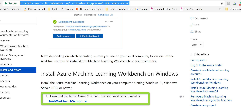 Azure ML workbench- Installation-Part 1 – RADACAD