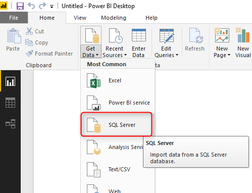 DirectQuery Connection in Power BI