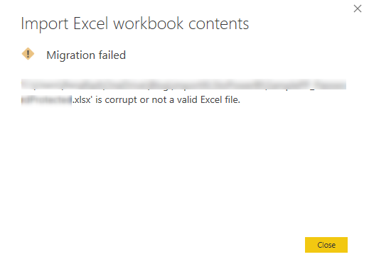 Power BI Issue Fix: Import from Excel Workbook Contents