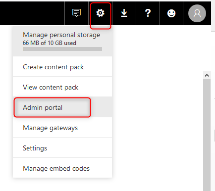 Power BI Administrator Tenant Settings