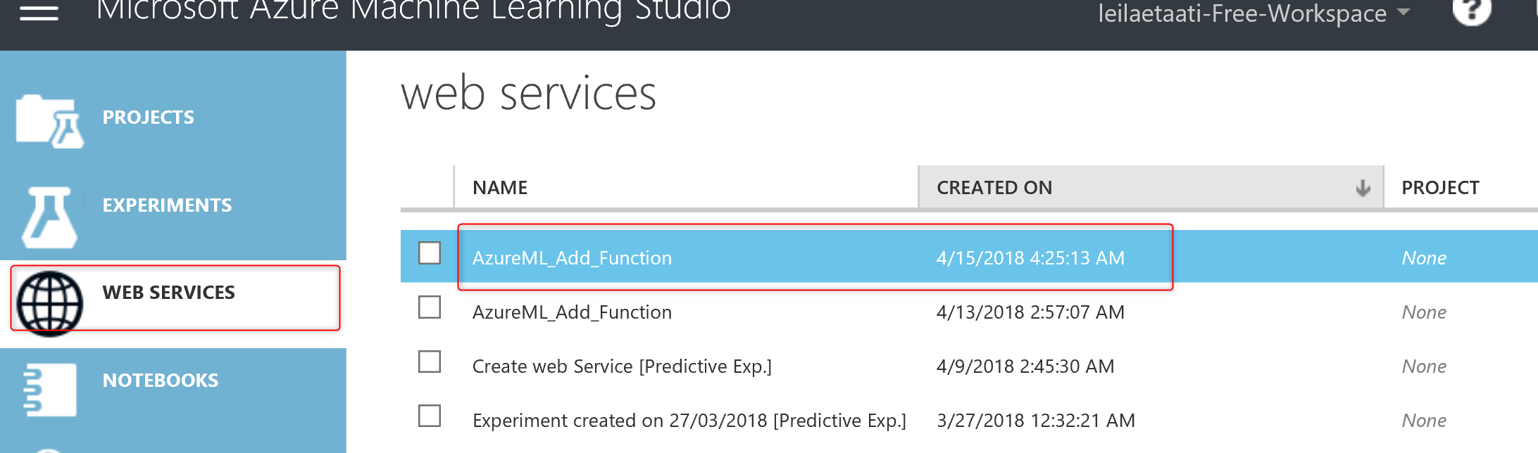 Azure ML Package-Publish a Web service from R-Part2 – RADACAD