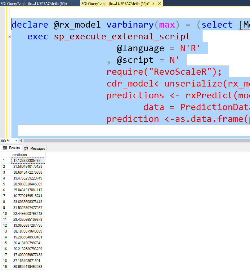 Microsoft SQl Server ML Services: RevoScaleR Package – RADACAD