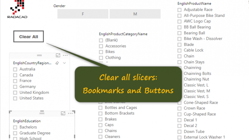 Clear All Slicers in Power BI; A Bookmark Story