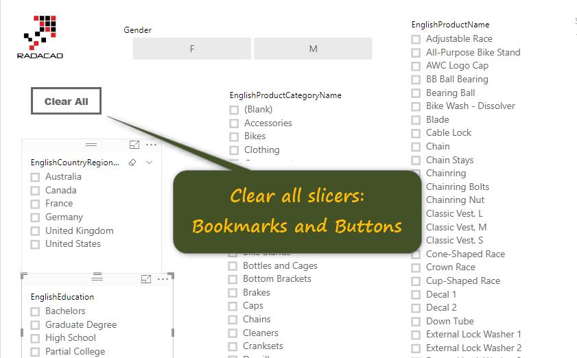 Clear All Slicers in Power BI