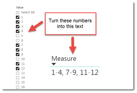 Fun with DAX – Compressing Numeric Sequences to Text