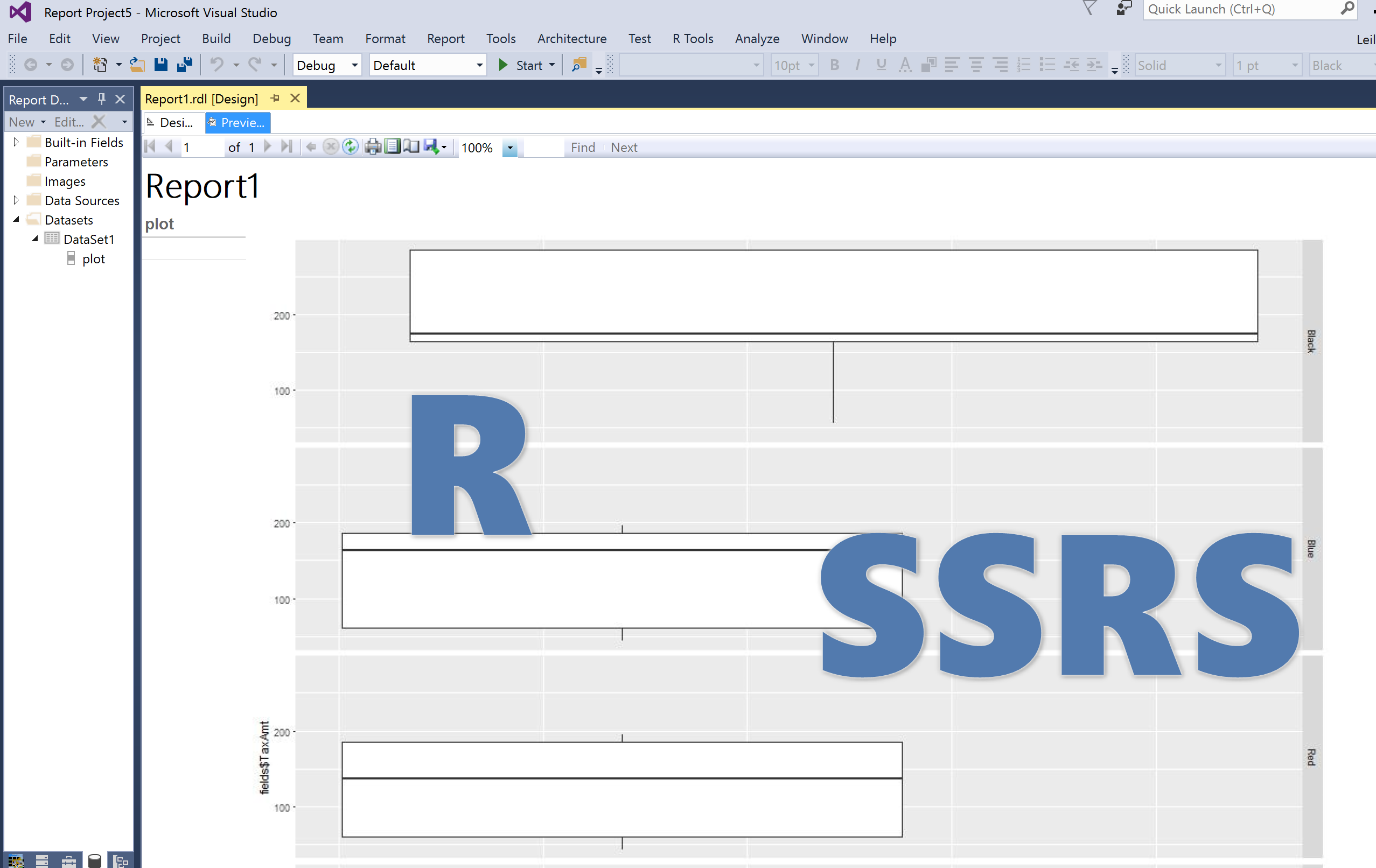R Chart into SSRS (ggplot2 package in SQL Server 2017)-Part