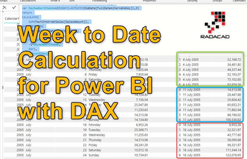 Week to Date Calculation in Power BI with DAX – RADACAD