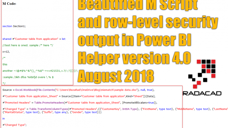 Beautify M Script and Extract Row Level Security with Power BI Helper Version 4.0