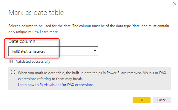 Power BI Date Dimension
