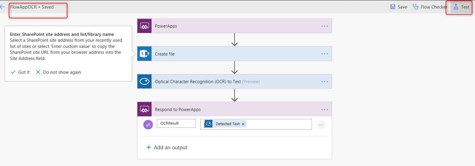 Image Processing- Invoice recording using Power App