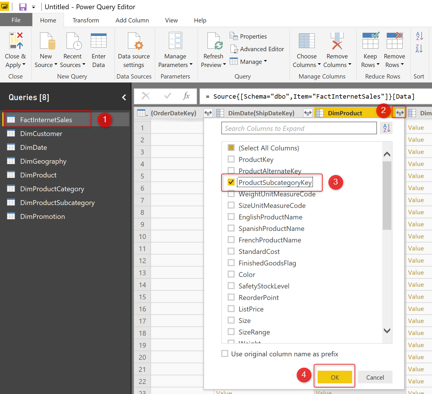 Power BI Aggregation: Step 1 Create the Aggregated Table