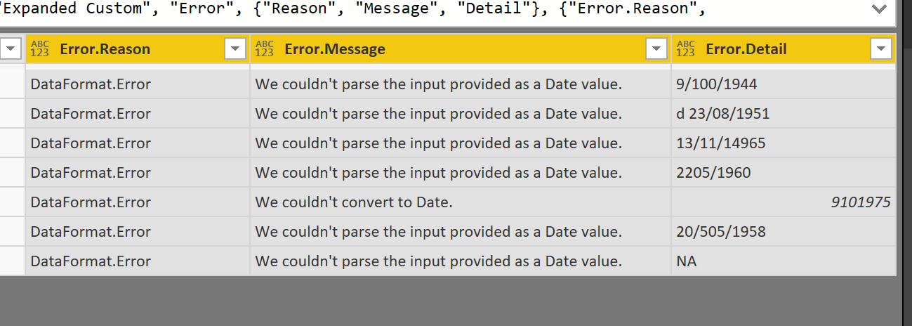 Exception Reporting in Power BI: Catch the Error Rows in