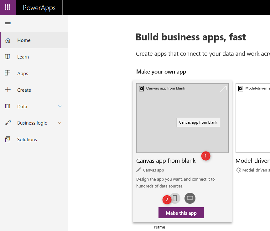 Create Power Apps for taking photo- Part 1- Face Recognition