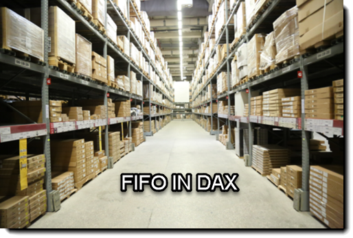 DAX : Inventory or Stock Valuation using FIFO